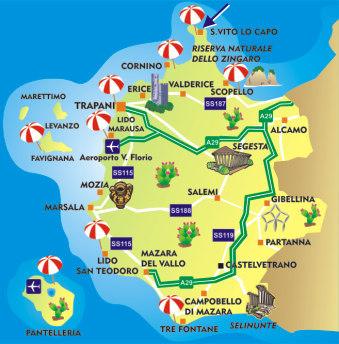 San Vito Lo Capo Cartina Sicilia.Villy Doma Kvartiry Apartamenty Na Sicilii Arenda Kvartir